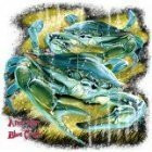 American Blue Crab T-Shirt (Medium, White)