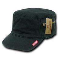 Patrol Fatique Caps W/ Zipper-Black