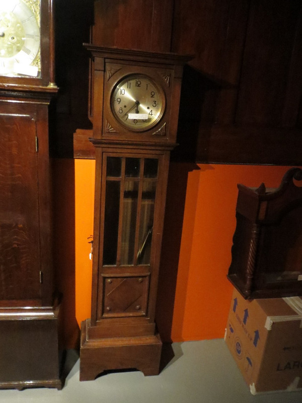 Unrestored 1920's oak glass front clock