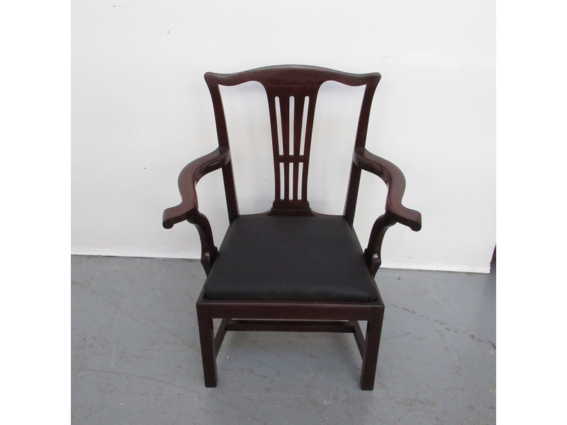 Large Georgian mahogany carver chair