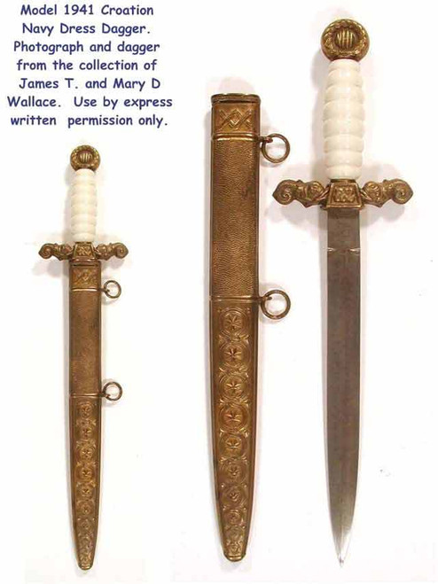 1941 Model Croatia Navy Dagger  #166