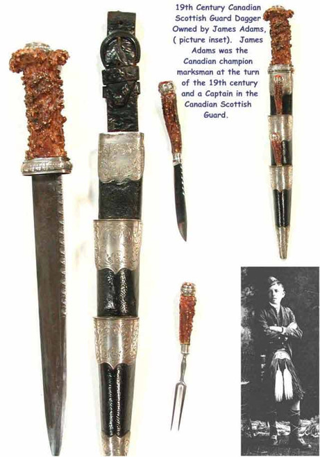 19 th Century Canadian Scotish Dirk  #222
