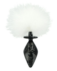 Fashionistas Black Glass Bunny Tail Butt Plug