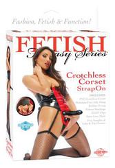 Fetish Fantasy Crotchless Corset Strap-On