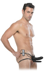 6 Inch Double Penetrator Vibrating Hollow Strap On