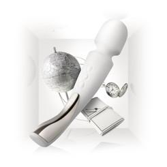 LELO Smart Wand Vibrator Medium - Ivory - Sex Toys