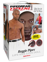 Pipedream Extreme Reggie Pipes Black Male Sex Doll