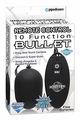 Remote Control 10 Function Bullet Vibrator Black