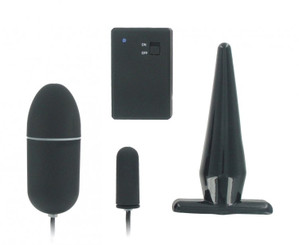 Remote Control Butt Plug and Bullet Vibrator Combo