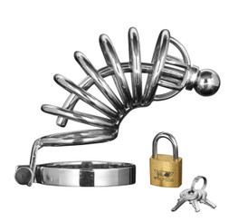 Asylum 6 Ring Locking Male Chastity Cock Cage