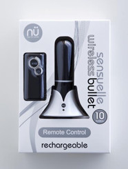 Sensuelle Remote Control Rechargeable Wireless Bullet Vibrator: Black