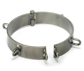 Steel Slave Collar - Clearcoat 6 inch