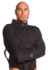 Strict Leather Black Canvas Straitjacket- X-Large