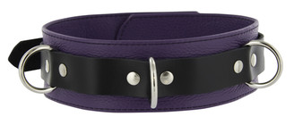 Strict Leather Deluxe Locking Collar - Purple and Black