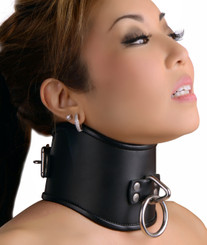 Strict Leather Locking Posture Collar- Small