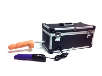 Attach Vac-U-Lock dildos to the ToolBox Sex Machine for different sensations and pleasure
