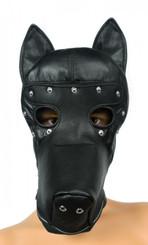 Leather Bondage Ultimate Dog Hood