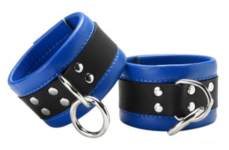 Blue Mid-Level Leather Ankle Restraint