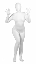 Zentai Full Body Spandex Suit- White