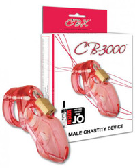 "CB 3000 3"" Cock Cage and Lock Set - Pink"