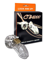 CB-6000 Male Chasity Clear 3 1/4in Cock Cage