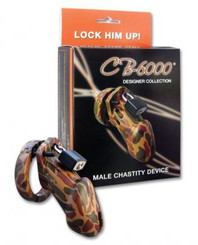CB-6000 Male Chastity Camouflage Cock Cage
