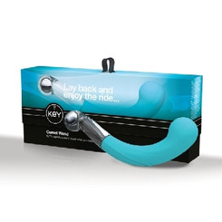 Comet G Glass G-Spot Wand - Robin Egg Blue