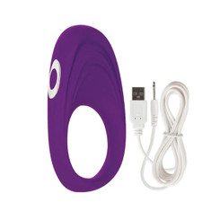 Embrace Pleasure Vibrating Cock Ring Purple
