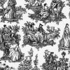 Black Toile Faux China