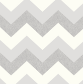 Arthouse - Glitterati - Chevron Silver/White 892302