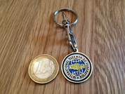 ITF traditional logo trolley coin keyring