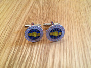 Cufflinks in traditional ITF round logo
