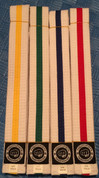 MIGHTYFIST Striped white belts