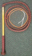 Australian Made Red Hide Stock Whip