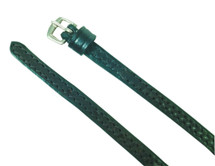 Stitched Leather Spur Straps