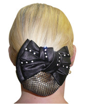 Hairnet- Show Bow Diamantes On Velvet
