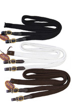Calgary Cotton Plaited Reins With Brass Fittings