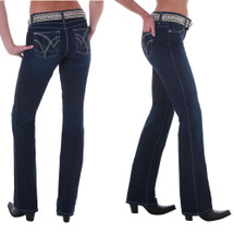 "Wrangler Womens Q'Baby Booty Up Ultimate Riding Jean ""Boot Scootin"" - WRQ25ST"