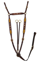 Calgary Stockman's Breastplate With Leather Lacing