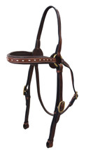Calgary Leather Barcoo Bridle With Buck Stitch Browband