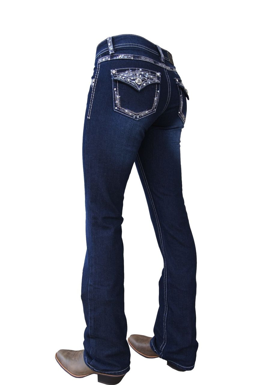 Pure Western By Thomas Cook Womens Taylor Boot Cut Jeans ...