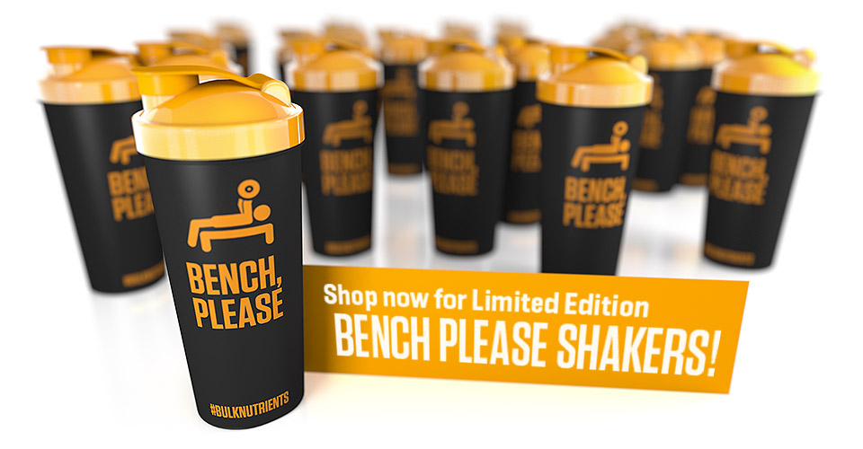 Bench, Please. The latest limited edition of Bulk Nutrients' shakers has arrived!