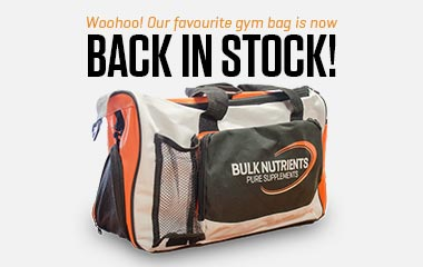 Bulk Nutrients Gym Bag is back in Stock