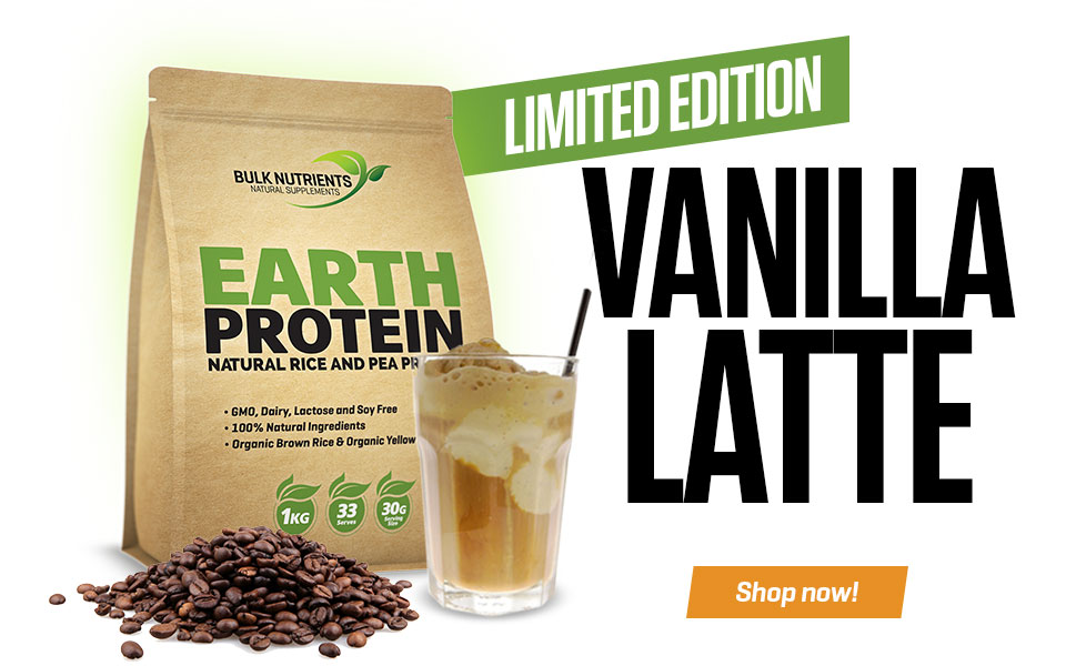 Limited Edition Vanilla Latte Earth Protein?  Yes please!