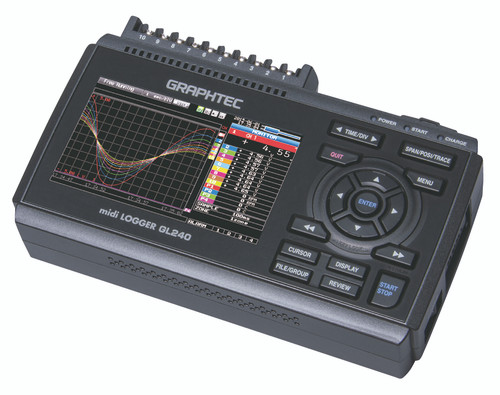 Graphtec GL240 data logger-side.