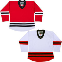 NHL Uncrested Replica Jersey DJ300 - Chicago Blackhawks