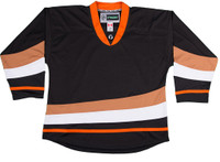 NHL Uncrested Replica Jersey DJ300 - Anaheim Ducks-Black-SR