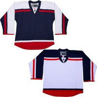NHL Uncrested Replica Jersey DJ300 - Columbus Blue Jackets