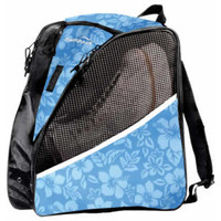 Transpack ICE Figure Skate Backpack - Blue Floral