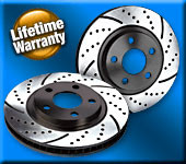 91-96 Ford Escort GT/Mazda Protege Fr/Rr Crossdrilled & Slotted Rotors